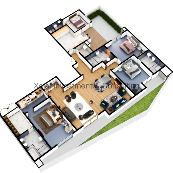 Appartements F5 – Avec jardin